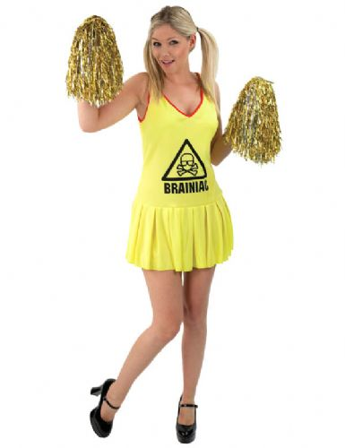 Brainiac - Sexy Cheerleader Fancy Dress Costume (67811)